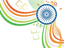 Abstract artistic indian flag wave. Vector illustration Royalty Free Stock Images