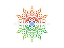 Abstract artistic indian floral explode. Vector illustration Royalty Free Stock Photography