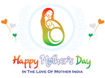 Abstract artistic indian mothers day. Vector illustration Stock Photos
