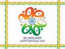 Abstract artistic indian republic day background. Vector illustration Stock Photo