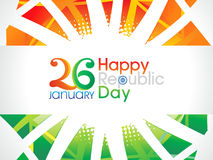 Abstract artistic indian republic day text. Vector illustration Royalty Free Stock Image