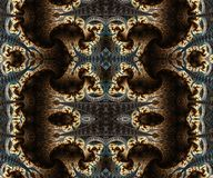 Abstract artistic 3d computer generated intermediate endless beautiful fractals patterns artwork. Abstract artistic intermediate endless old vintage smoothly royalty free illustration