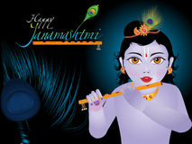 Abstract artistic janamashtmi background. Vector illustration Stock Photos