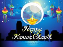 Abstract artistic karwa chauth background. Vector illustration Stock Image