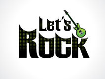 Abstract artistic lets rock text. Vector illustration Stock Photography