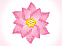Abstract artistic lotus flower. Vector illustration royalty free illustration