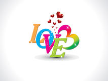 Abstract artistic love text. Vector illustration royalty free illustration