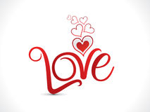 Abstract artistic love text Stock Photography