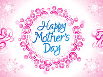 Abstract artistic mother day background. Vector illustration Stock Photography