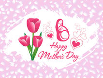 Abstract artistic mother day background. Vector illustration Stock Images