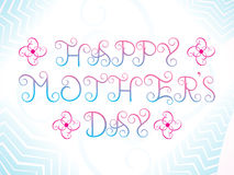Abstract artistic mother's day background. Vector illustration Royalty Free Stock Images