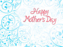 Abstract artistic mothers day background. With floral background vector illustratioin Royalty Free Stock Photo