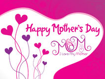 Abstract artistic mothers day background. Vector illustration Royalty Free Stock Photo