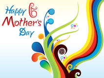 Abstract artistic mothers day background. Vector illustration royalty free illustration