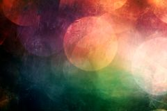 Abstract Artistic Multicolored Connected Circular Shapes Texture Background stock illustration