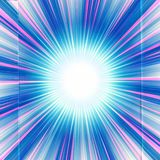 Abstract Artistic Multicolored Unique Star Explosion Artwork vector illustration