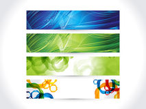 Abstract artistic multiple colorful banner. Vector illustration Stock Images