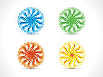 Abstract artistic multiple colorful circle. Vector illustration Stock Photos