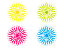 Abstract artistic multiple colorful circle. Vector illustration royalty free illustration