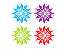 Abstract artistic multiple colorful floral Stock Photography