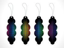 Abstract artistic multiple colorful tags. Vector illustration Royalty Free Stock Photography