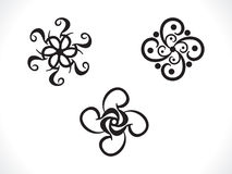 Abstract artistic multiple floral Stock Images