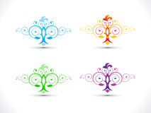 Abstract artistic multiple floral. Vector illustration Stock Image