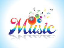Abstract artistic music background. Vector illustration Royalty Free Stock Images