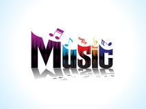 Abstract artistic music text. Vector illustration Stock Image