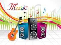 Abstract artistic musical background Royalty Free Stock Photos