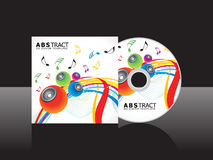 Abstract artistic musical cd cover template Stock Images