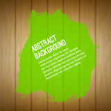 Abstract artistic nature background with wood texture, green han Royalty Free Stock Photos