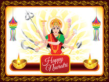 Abstract artistic navratri background. Vector illustration Stock Image