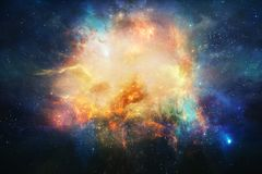 Abstract Artistic Nebula In Outer Space Background royalty free illustration