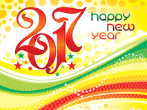 Abstract artistic new year background. Vector illustration Royalty Free Stock Image