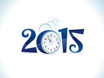 Abstract artistic new year text with clock. Vector illustration Royalty Free Stock Images