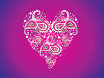 Abstract artistic pink heart wallpaper. Vector illustration Stock Photo
