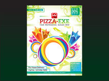 Abstract artistic pizza flyer template. Vector illustration Royalty Free Illustration