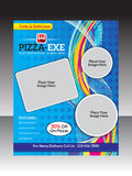 Abstract artistic pizza store flyer. Vector illustration Stock Image