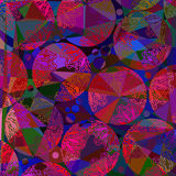 Abstract artistic polygonal mosaic  digital  painting background Stock Photography
