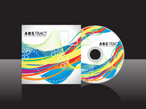 Abstract artistic rainbow cd cover template. Vector illustration Royalty Free Stock Photography
