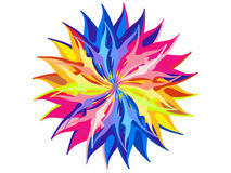 Abstract artistic rainbow circle background Stock Photos