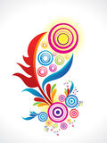 Abstract artistic rainbow floral background. Vector illustration Royalty Free Stock Photo