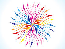 Abstract artistic rainbow floral circle. Vector illustration Royalty Free Stock Photo