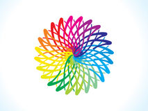 Abstract artistic rainbow floral circle Royalty Free Stock Image