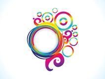 Abstract artistic rainbow floral explode. Vector illustration royalty free illustration