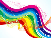 Abstract artistic rainbow wave background Royalty Free Stock Photo