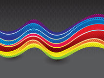 Abstract artistic rainbow wave Stock Photography