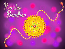 Abstract artistic raksha bandhan background. Vector illustration Stock Images