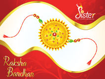 Abstract artistic raksha bandhan background. Vector illustration Stock Photos